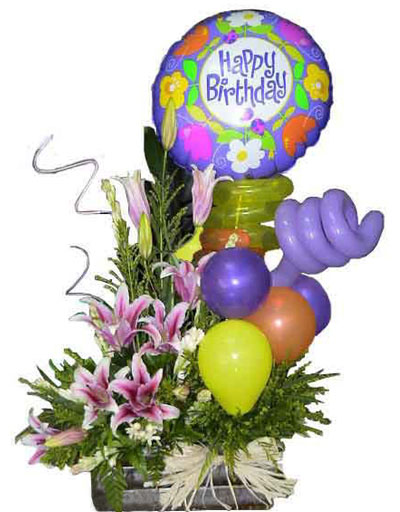 Happy Birthday Balloons Arrangement